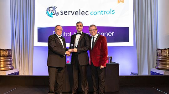 Servelec Controls scoops Digital accolade to become EIC National Award winners two years running